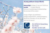Tienjarig jubileum van Corpus Mentis - Fysiotherapie Leiden